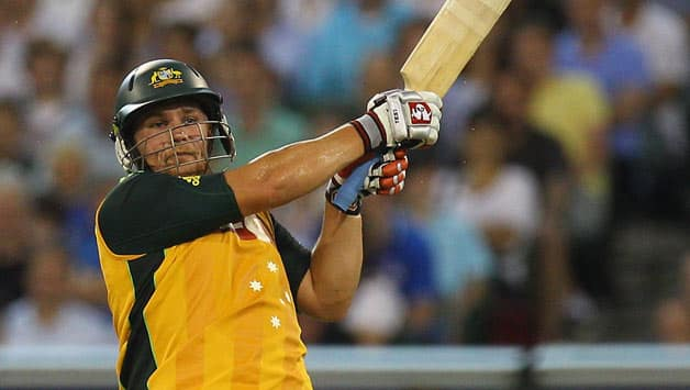 Australia smash their way to 201/7 against India in only T20I