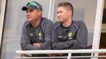 Ashes 2013-14: Mickey Arthur feels Michael Clarke, James Sutherland could face the axe if Australia lose