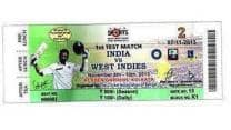Sachin Tendulkar's 199th Test match ticket features his picture and autograph