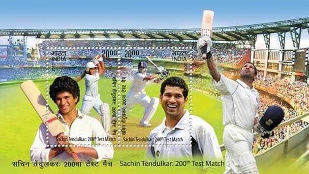 Sachin Tendulkar postage stamp released on honour of the Little Master before 200th Test