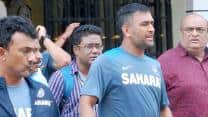 MS Dhoni inaugurates Sachin Tendulkar Pavilion in Kochi ahead of 1st ODI against West Indies