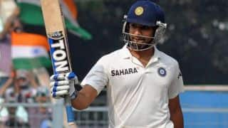 Rohit Sharma scores 177 on Test debut