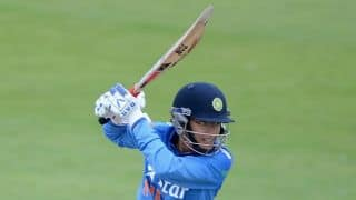 India Women 20 for one after 5 overs