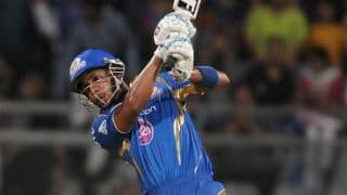 Simmons, Hussey take Mumbai Indians to competitive total