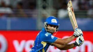 Rohit, Pollard guide Mumbai against Rajasthan