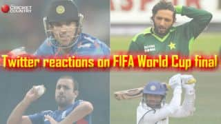Cricketers react to Germany's win on Twitter