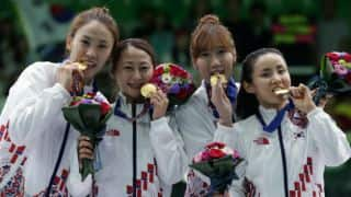 South Korean's dominate fencing events
