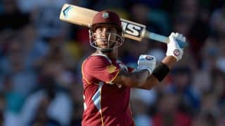 West Indies score 165/6 against New Zealand