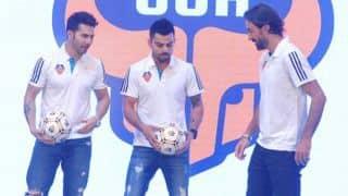 Kohli showcases his football skills