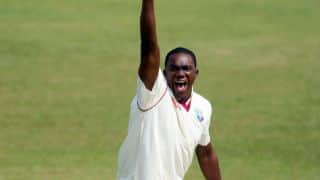 Jerome Taylor picks up his 100th Test wicket
