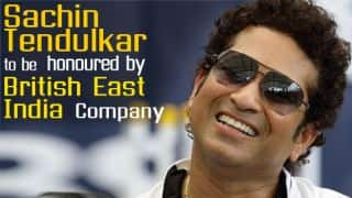 Tendulkar to be honoured with gold coins